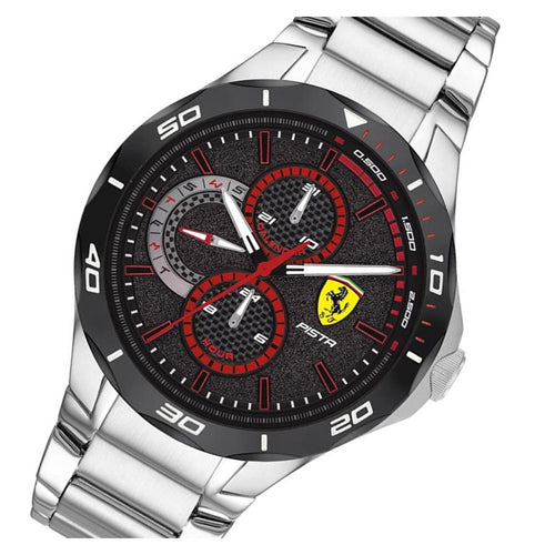 Scuderia Ferrari Pista Stainless Steel Men's Multi-function Watch - 830726