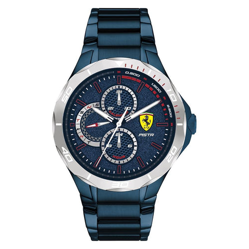 Scuderia Ferrari Pista Blue Steel Men's Multi-function Watch - 830759