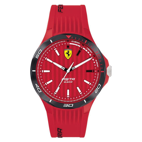 Scuderia Ferrari Pista Red Silicone Men's Watch - 830781