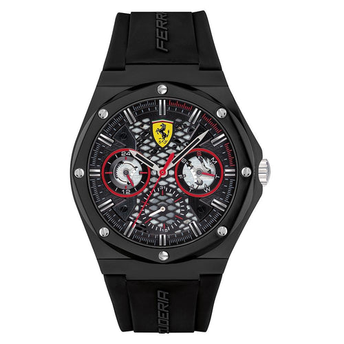Scuderia Ferrari Aspire Black Silicone Men's Multi-function Watch - 830785