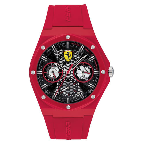 Scuderia Ferrari Aspire Red Silicone Men's Multi-function Watch - 830786