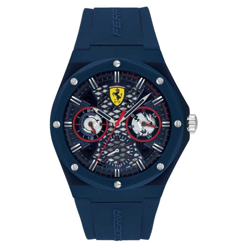 Scuderia Ferrari Aspire Blue Silicone Men's Multi-function Watch - 830788