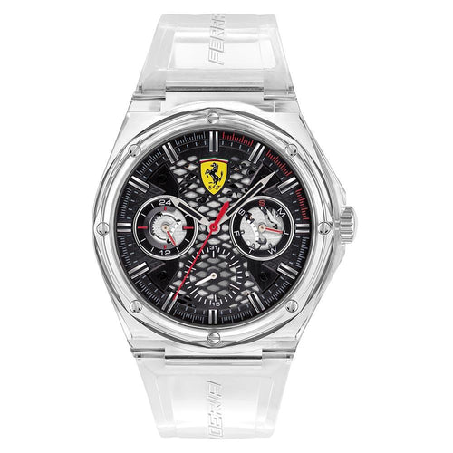 Scuderia Ferrari Aspire Clear Silicone Men's Multi-function Watch - 830789
