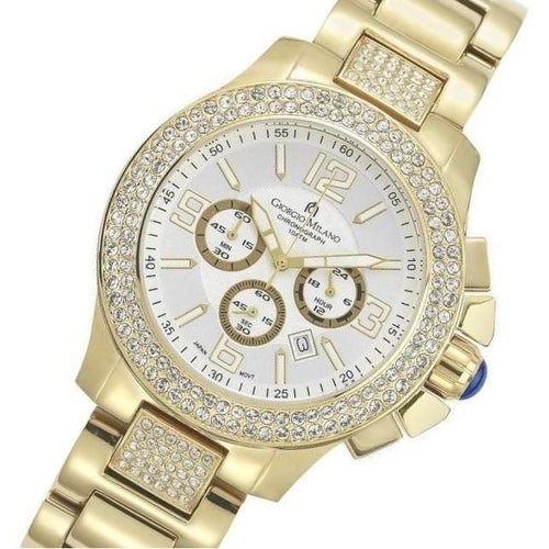 Giorgio Milano Gold Steel with Swarovski Crystals Men's Watch - 839SG02