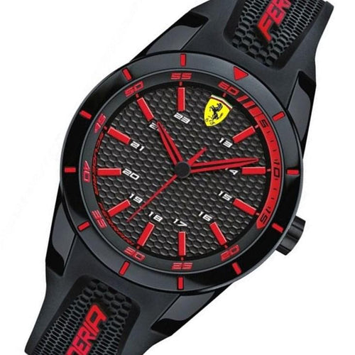 Scuderia Ferrari Redrev Black Silicone Men's Watch - 840004