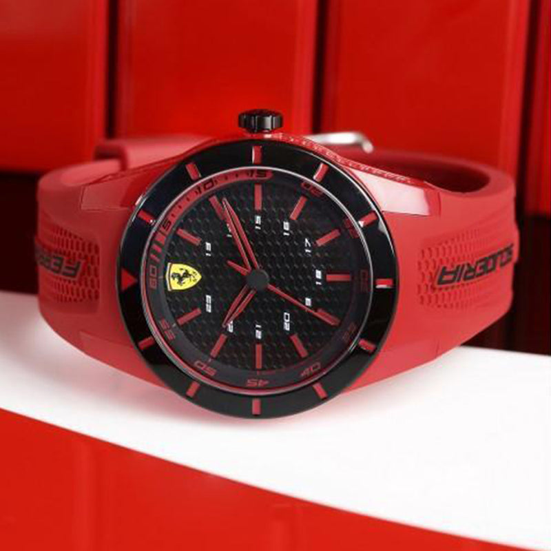 Scuderia Ferrari Redrev Red Silicone Watch - 840005