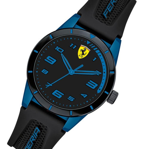 Scuderia Ferrari Kids Redrev Black Silicone Watch - 860007