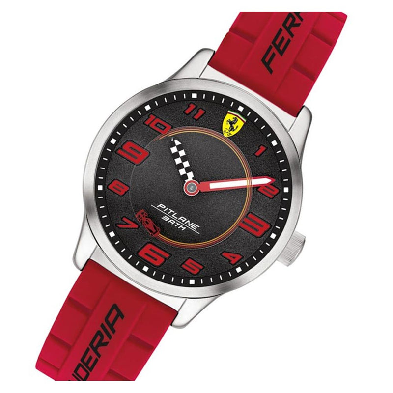 Scuderia Ferrari Kids Pitlane Red Silicone Watch - 860013