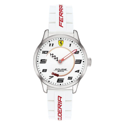 Scuderia Ferrari Pitlane White Silicone Band Youth Watch - 860014