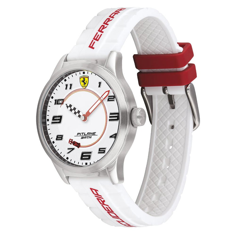 Scuderia Ferrari Pitlane White Silicone Band Kids Watch - 860014