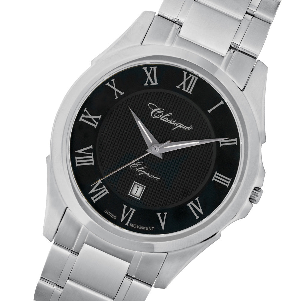 Classique Elegance Stainless Steel Men's Swiss Watch - 8709W