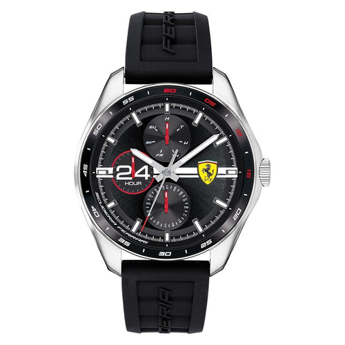 Scuderia Ferrari Speedracer Black Silicone Men's Multi-function Watch - 870045
