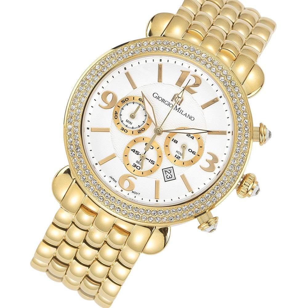 Giorgio Milano Gabriella Steel Gold Ladies Watch - 944SG02