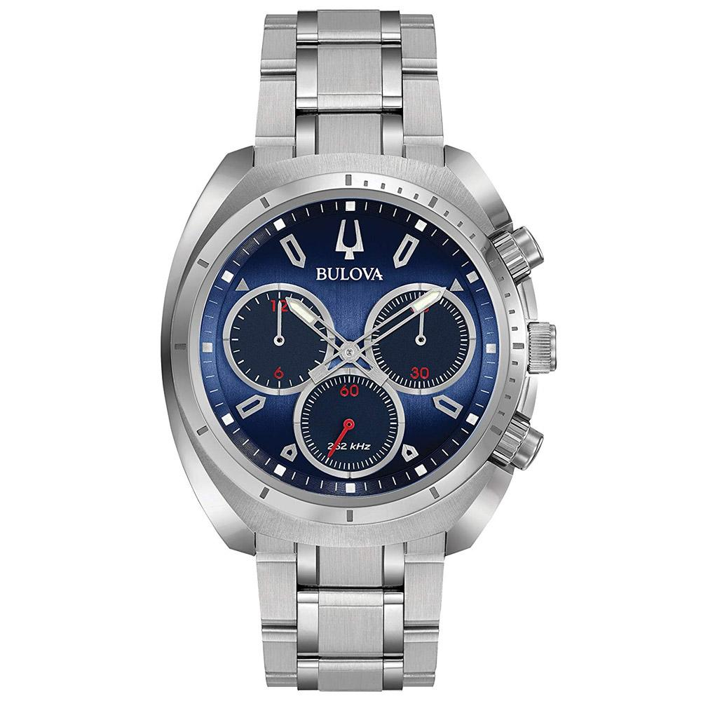 Bulova Curv Gents Chronograph Stainless Steel Watch - 96A185