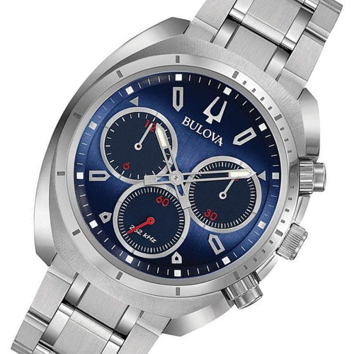Bulova Curv Gents Chronograph Stainless Steel Men's Watch - 96A185