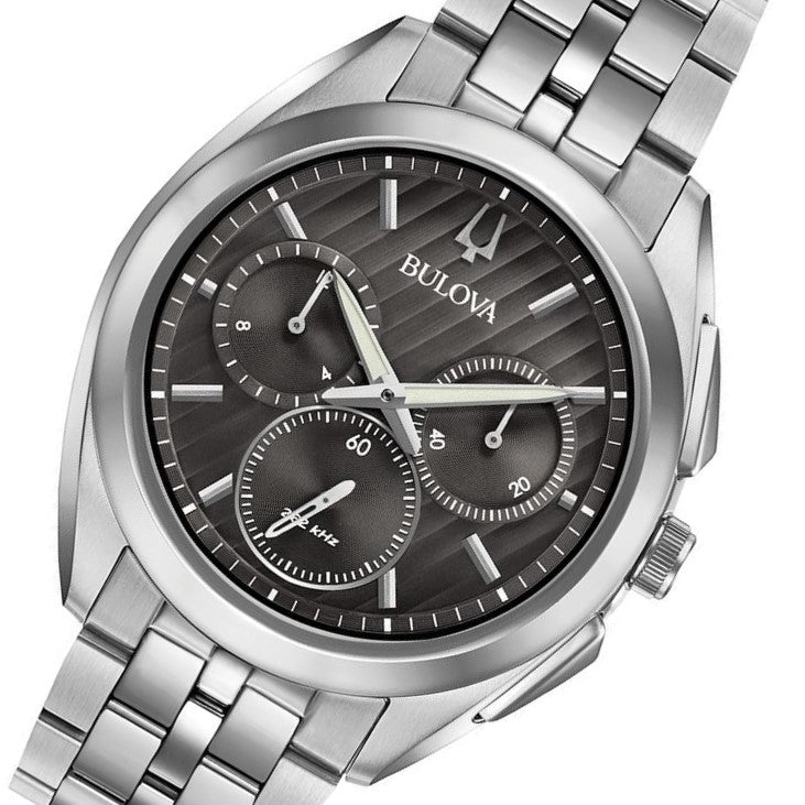 Bulova Curv Gents Chronograph Stainless Steel Watch - 96A186