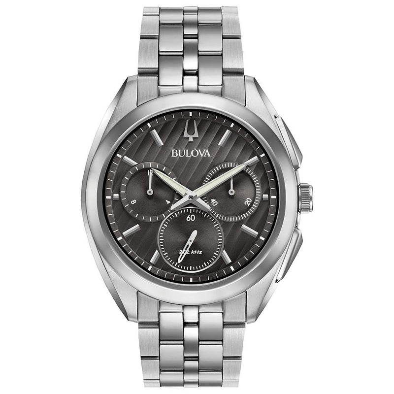 Bulova Curv Gents Chronograph Stainless Steel Men's Watch - 96A186