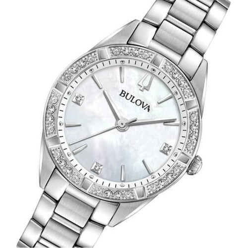 Bulova Ladies Sutton Domed Diamond Encrusted Watch - 96R228