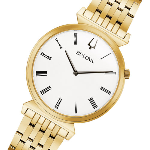 Bulova Classic Gold Steel Men's Watch - 97A153