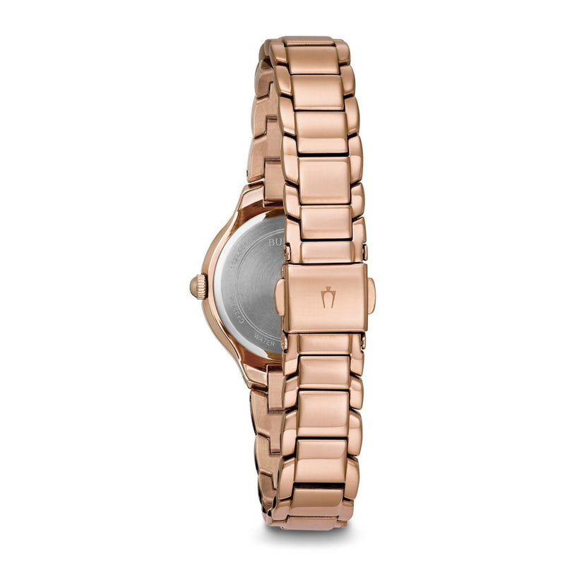 Bulova Ladies Sutton Slim Rose Gold Watch - 97L151