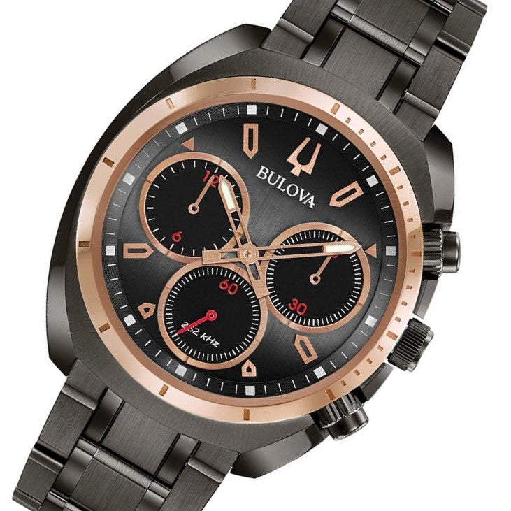984743f20 Bulova Curv Gents Chronograph Stainless Steel Watch - 98A158 – The ...