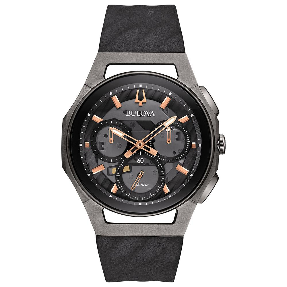 Bulova Curv Gents Chronograph Titanium Watch - 98A162