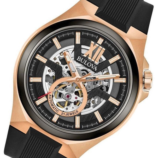 Bulova Maquina Gents Automatic Skeleton Watch - 98A177
