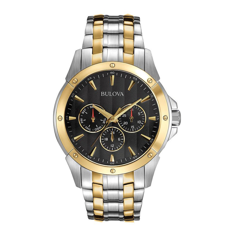Bulova Gents Multi Function Dual-Tone Multi Function Steel  Watch - 98C120