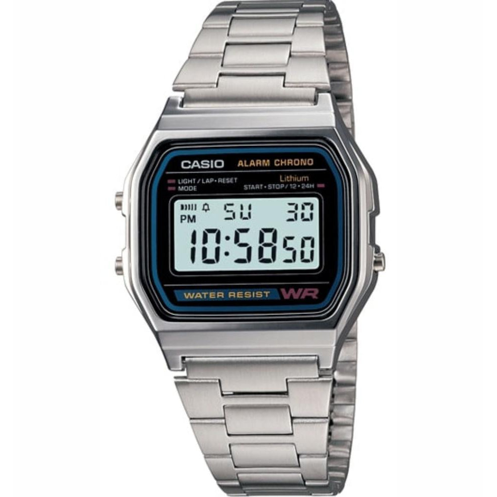 Casio Classic Digital Stainless Steel Alarm Watch - A158WA-1