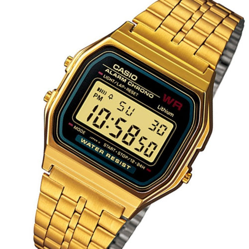 Casio Gold Retro Unisex Digital Alarm Watch - A159WGEA-1DF