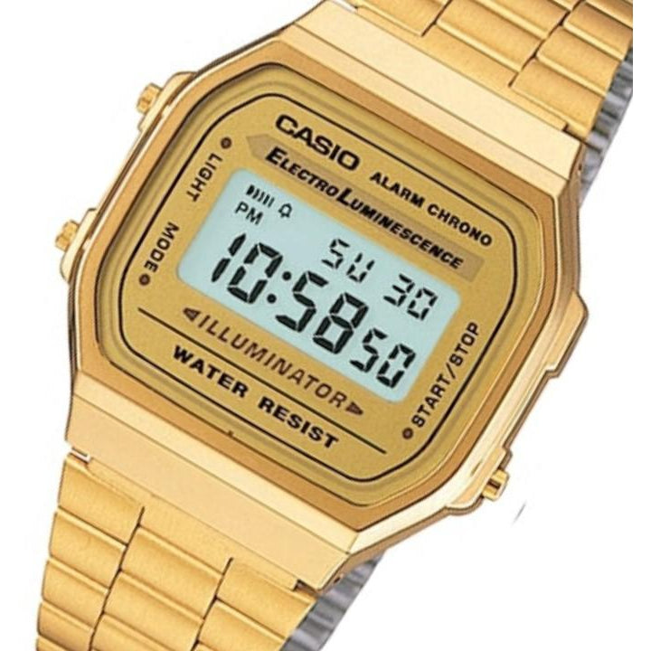 reputable site 99e00 b799b Casio Gold Retro Unisex Digital Alarm Watch - A168WG-9 – The ...