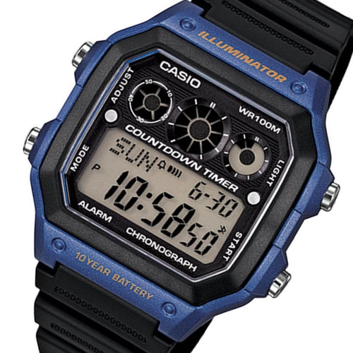 Casio Illuminator Digital Men's Sports Watch - AE1300WH-2A