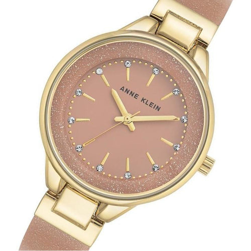 Anne Klein Swarovski Crystal Accent Bangle Ladies Watch - AK1408LPLP