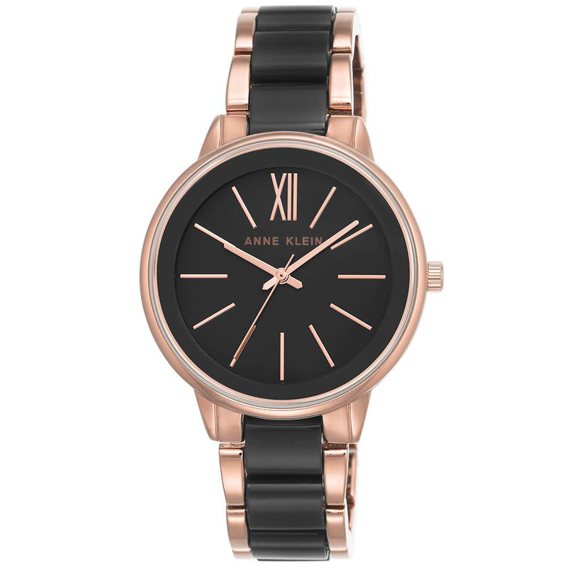 Anne Klein Rose   Gold Bracelet Ladies Watch - AK1412BKRG