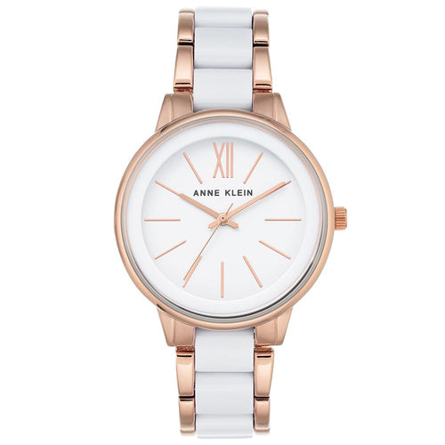 Anne Klein Rose Gold and White Bracelet Ladies Watch - AK1412WTRG