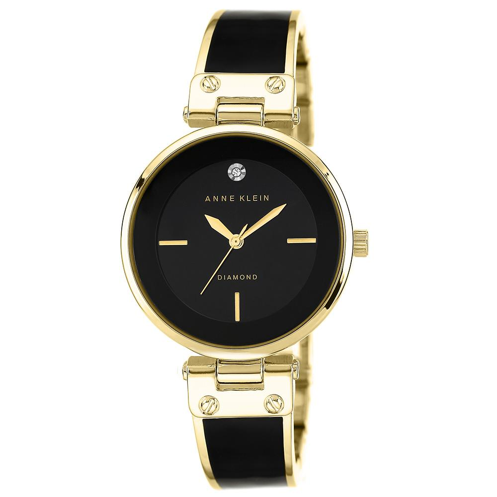 Anne Klein Diamond Gold Bracelet Ladies Watch - AK1414BKGB
