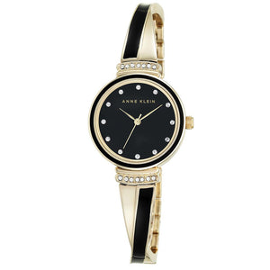 Anne Klein Swarovski Cystal Accents Bangle Ladies Watch - AK2216BKGB