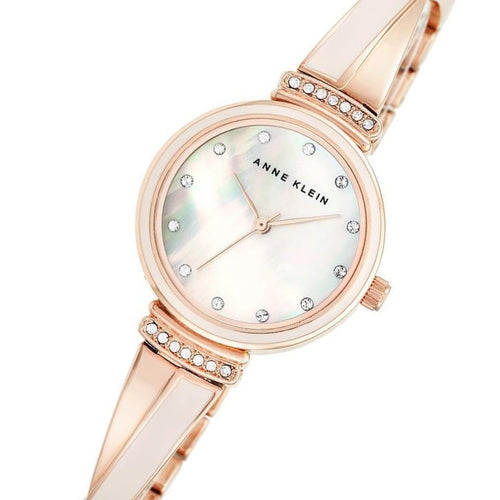 Anne Klein Swarovski Crystal Accents Pink Bangle Ladies Watch - AK2216BLRG