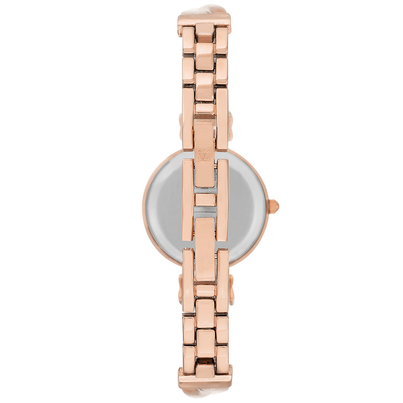 Anne Klein Rose Gold Bracelet   Ladies Watch - AK2622BKRG