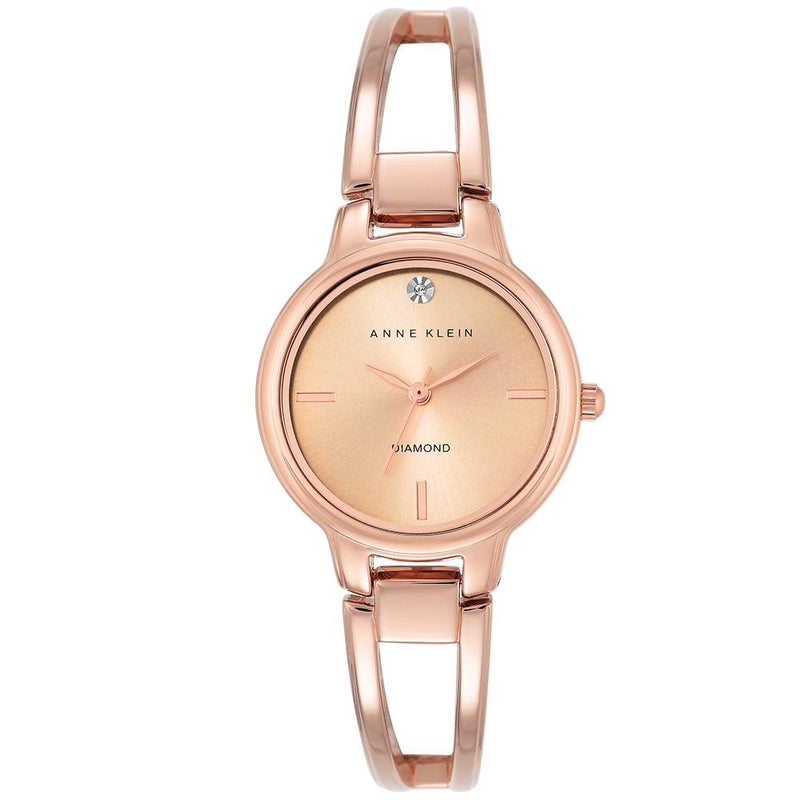 Anne Klein Diamond Rose Gold Bangle Ladies Watch - AK2626RGRG