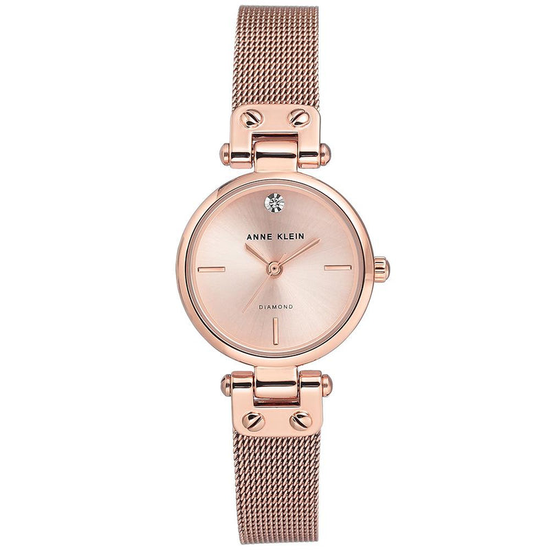 Anne Klein Rose Gold Mesh Ladies Watch - AK3002RGRG