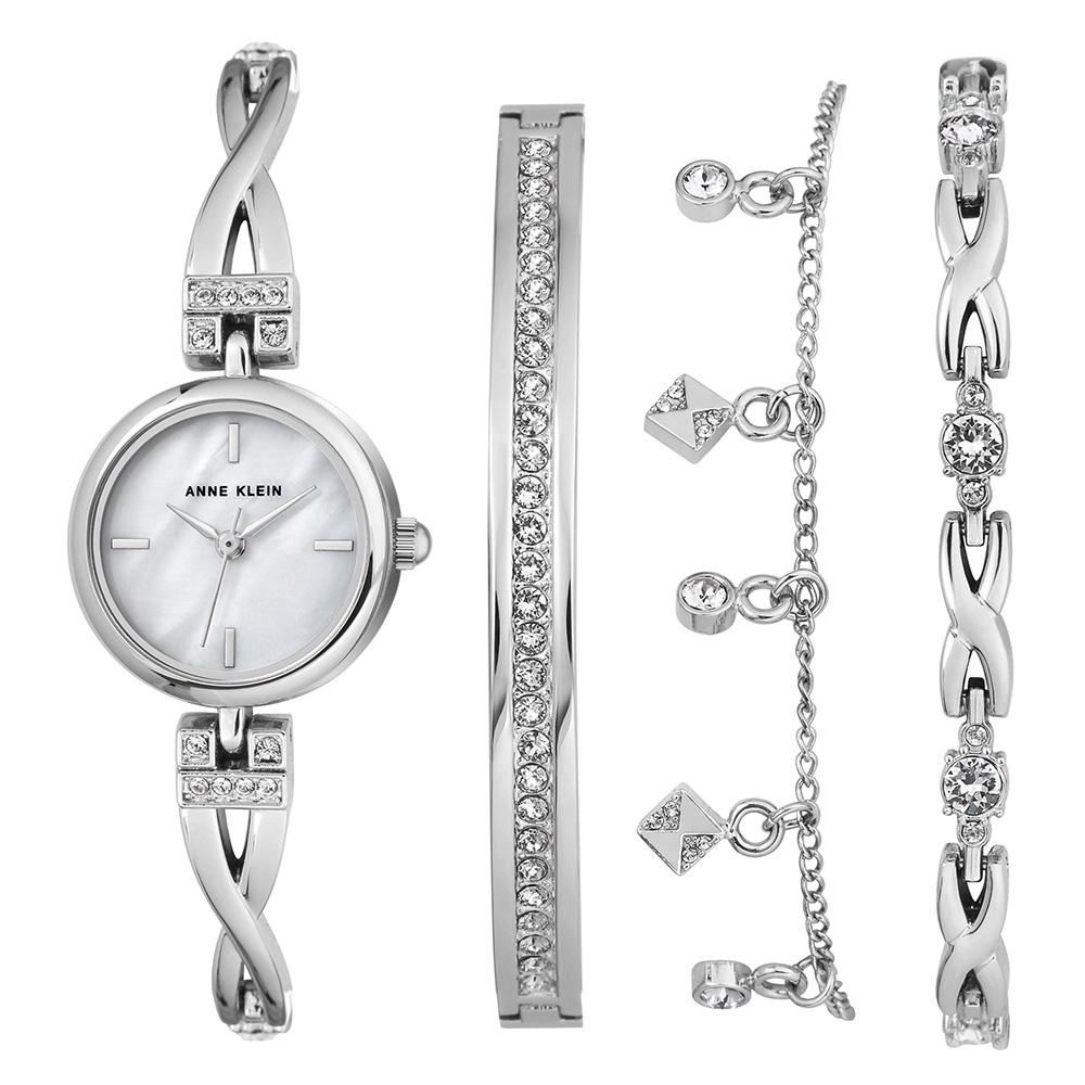 Anne Klein Swarovski Bracelet Set Ladies Watch - AK3083SVST