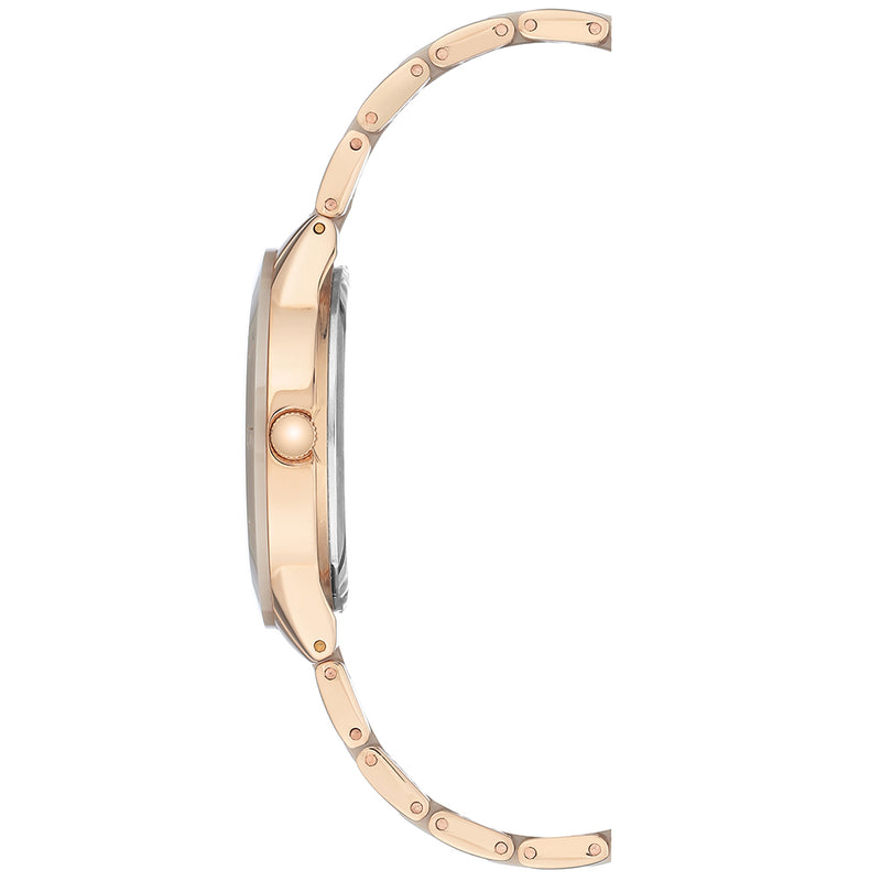 Anne Klein Rose Gold Ceramic Bracelet Ladies Watch - AK3160TNRG