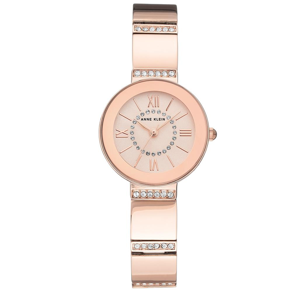 Anne Klein Swarovski Crystal Accents Rose Gold Ladies Watch - AK3190RGRG