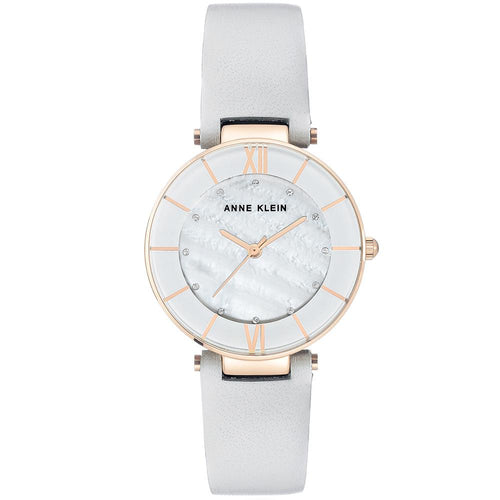 Anne Klein Swarovski Crystal Accents Leather Ladies Watch - AK3272RGLG