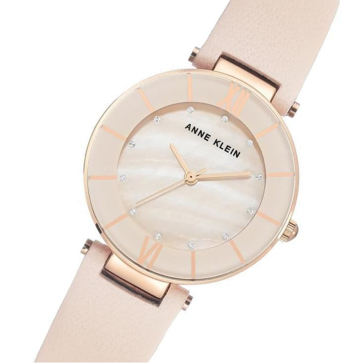 Anne Klein Swarovski Crystal Accents Light Pink Ladies Watch - AK3272RGLP