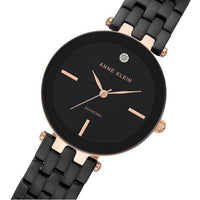 Anne Klein Minimalist Black  Bracelet Ladies Watch - AK3310BKRG