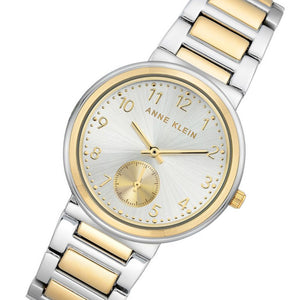 Anne Klein Two-tone Steel Ladies Watch - AK3407SVTT