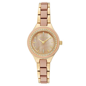Anne Klein Swarovski Crystal Accents Mesh Ladies Watch - AK3472TPGB