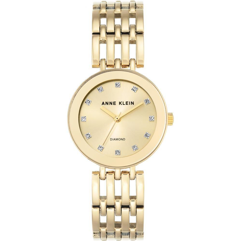 Anne Klein Diamond Crystal Accents Bracelet Ladies Watch - AK2944CHGB